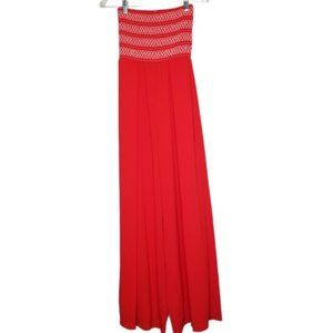 NWT Charlotte Russe Red Wide Leg Jumpsuit